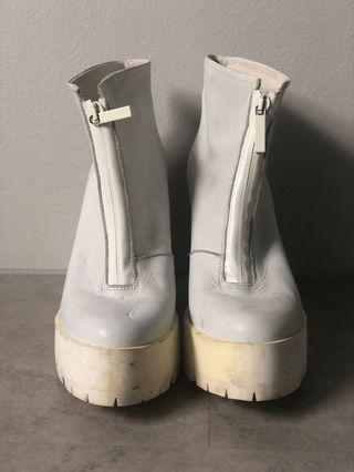 Miista white booties