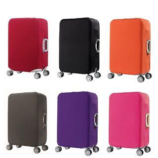 Instock Luggage Cover Plain Color Black
