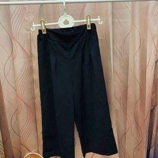 涼感 寬褲~ 黑