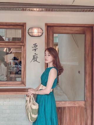 19新色復古赫本風流蘇長洋裝