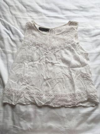 Something Borrowed White Open Back Top