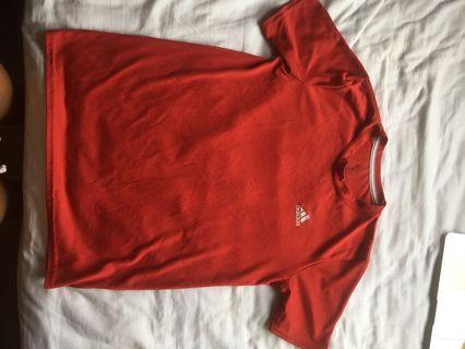 Red Adidas Sports Shirt