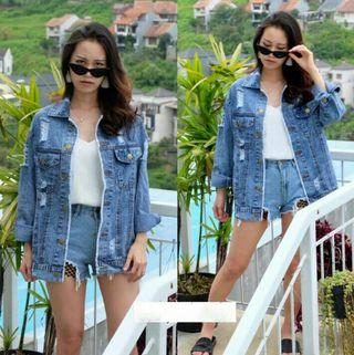 Jaket Jeans riped