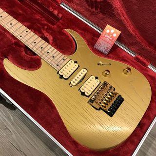 BRAND NEW LIMITED EDITION IBANEZ PRESTIGE JAPAN RG657AHM GDF GOLD FLAT