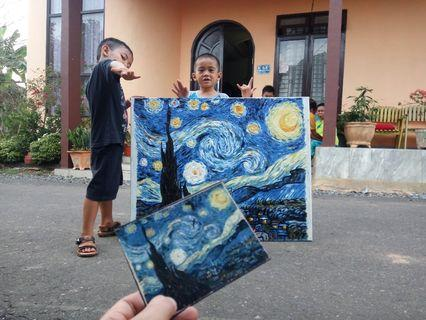 Lukisan Repro Van Gogh Starry Night
