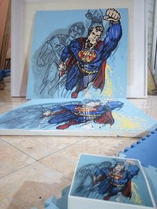 Lukisan Pop Art Superman