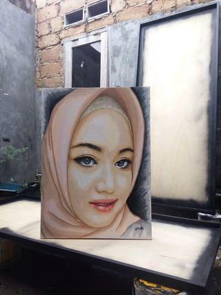 Lukisan Wajah Order custom