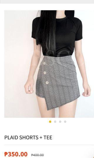 BSCO tee + short skirt
