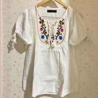 Bohemian top embroidery