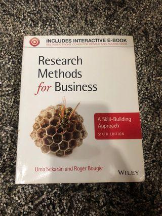 Research Methods for Business Sekaran Bougie Buku Original