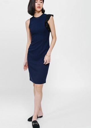 BNWT Love Bonito Asymmetrical Ruffle Sleeve Dress