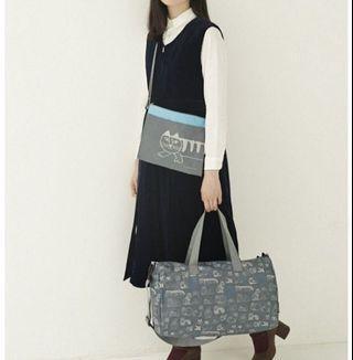 日本雜誌包 旅行袋 行李袋 送小包包