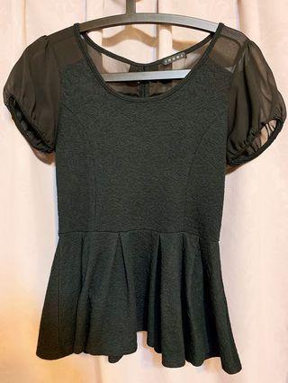 日本INGNI微透膚黑色蝴蝶結上衣洋裝