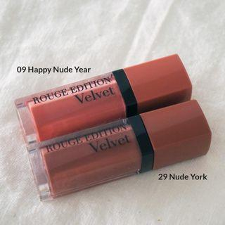 Preloved Bourjois Rouge Edition Velvet - 09 Happy Nude Year - 29 Nude York