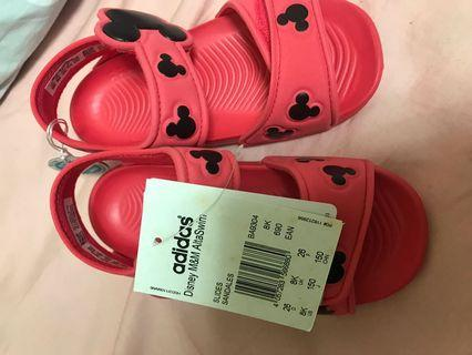 ADIDAS DISNEY M&M ALTA  調整式兒童涼鞋baby涼鞋BA9304紅