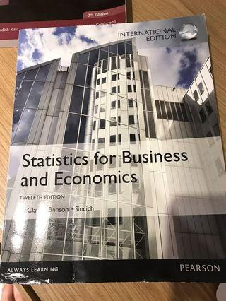 Statistics for Business and Economics 第12版