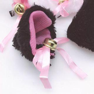 Black cat ears clip with bells