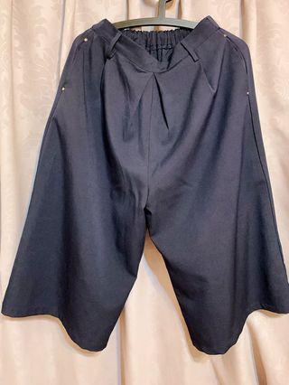 日本帶回厚雪紡寬褲