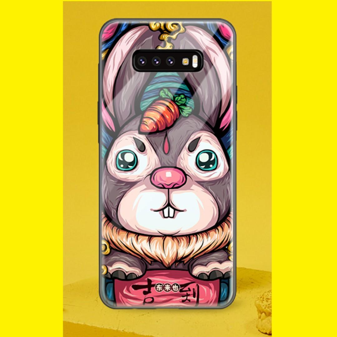 💥 Samsung Galaxy S10+ Tempered Glass Casing - 吉到兔💥