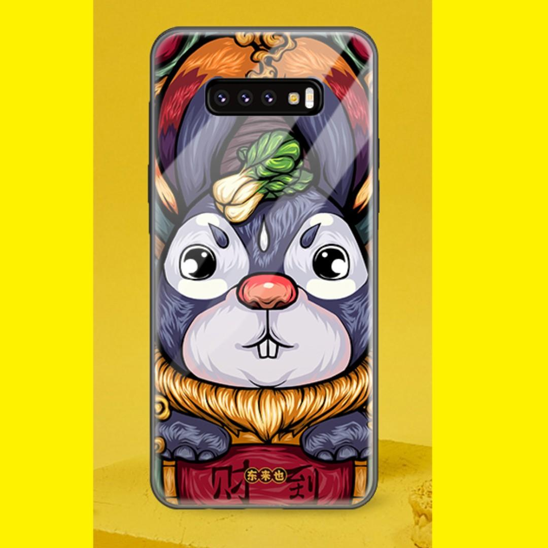 💥 Samsung Galaxy S10+ Tempered Glass Casing - 财到兔💥
