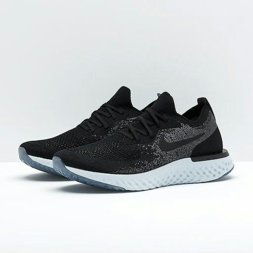 全新 US7 Nike Epic React Flyknit (Black x Dark Grey) 黑灰色 男裝 跑步鞋