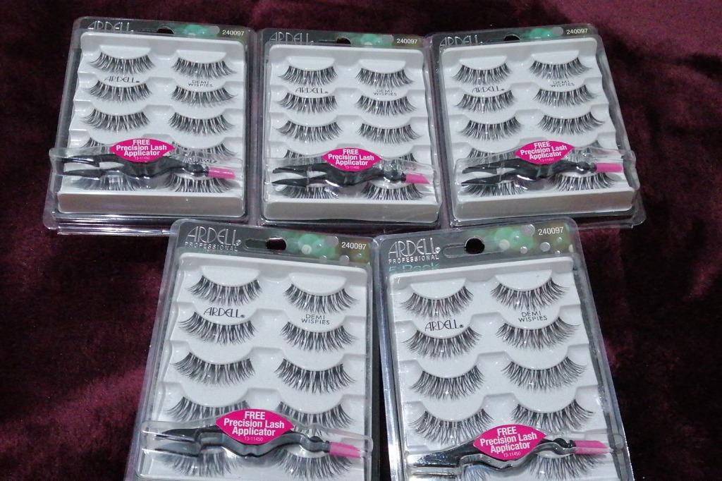 Ardell DEMI WISPIES x 5 PACK False Eyelashes Fake BLACK Lashes BRAND NEW IN PACK (NO SWAPS, $30 EACH PRICE IS FiRM)