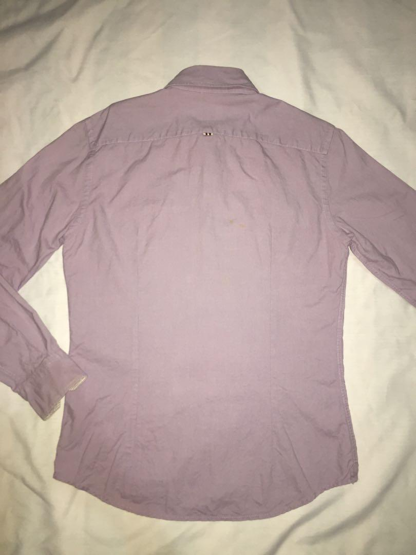 Authentic lacoste oxford long sleeve shirt