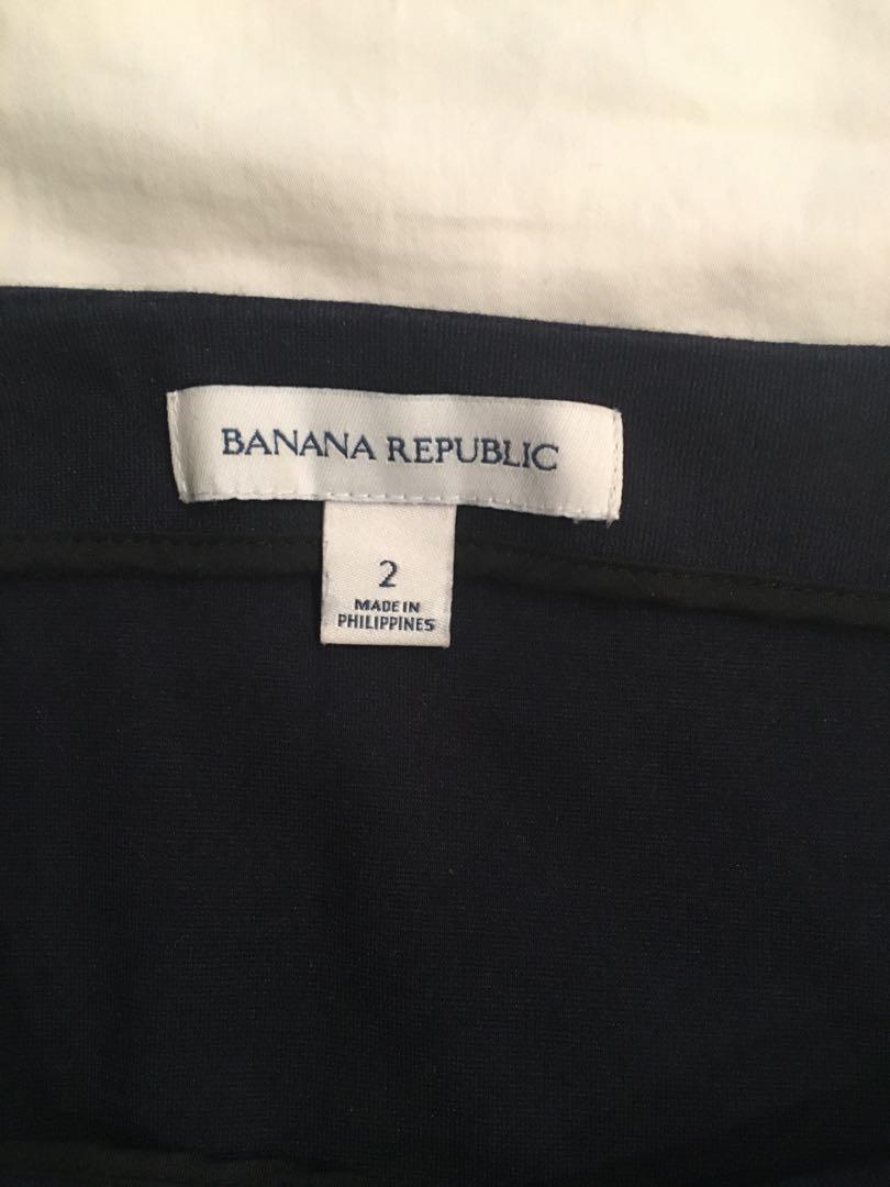 Banana Republic Navy Blue Flare Skirt