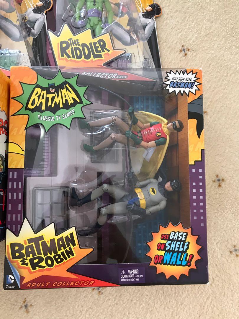 Batman Classics 1966 TV series Robin Joker Penguin Cat woman Riddler Bat Mobile