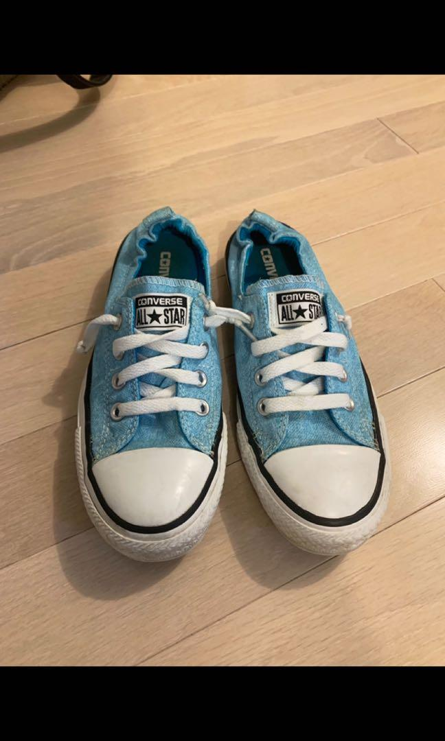 Blue Converse AllStar Slip-Ons Size 7 Great Condition