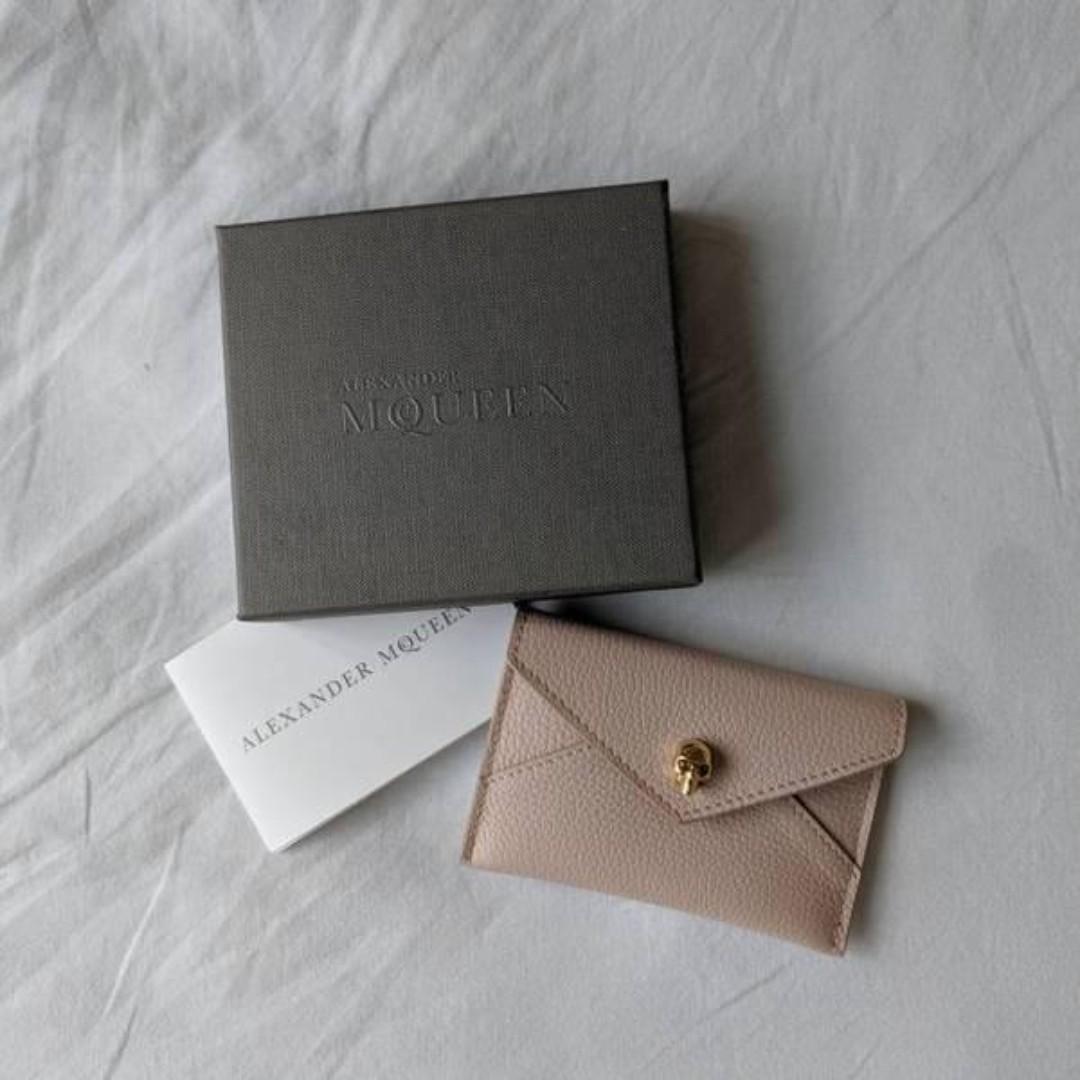 BNIB Authentic Alexander McQueen Card Holder - Pink