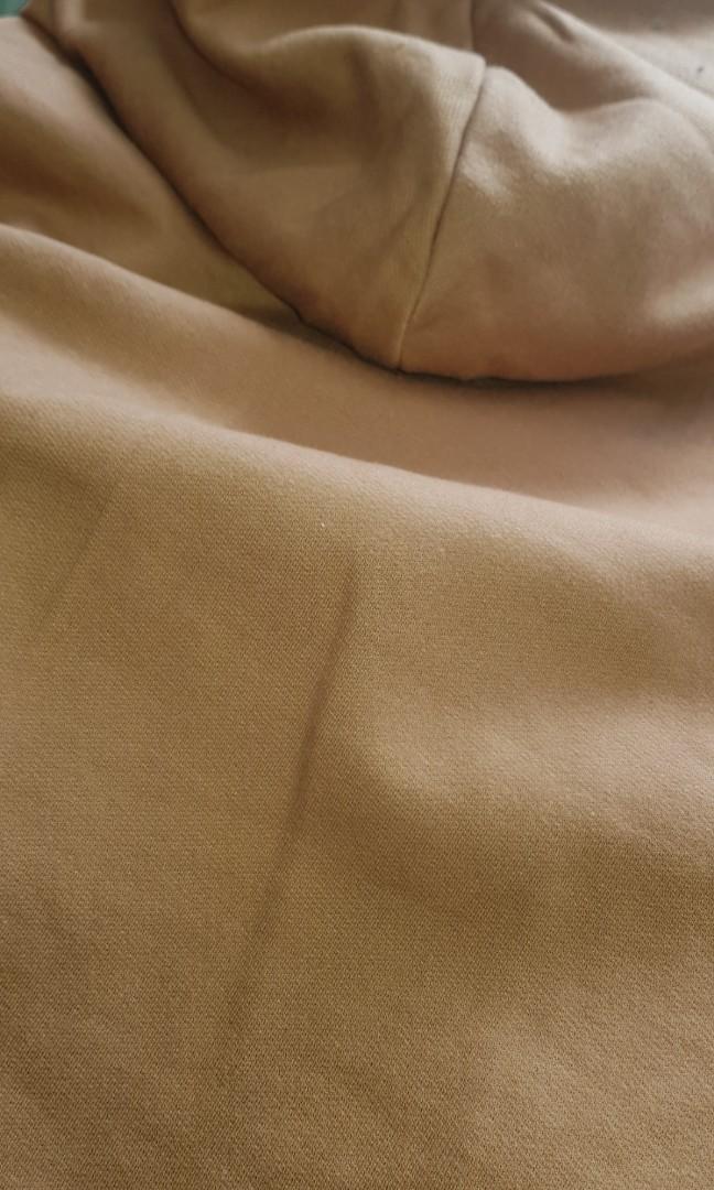 Boohoo brown camel cropped hoodie jumper crop hoodie