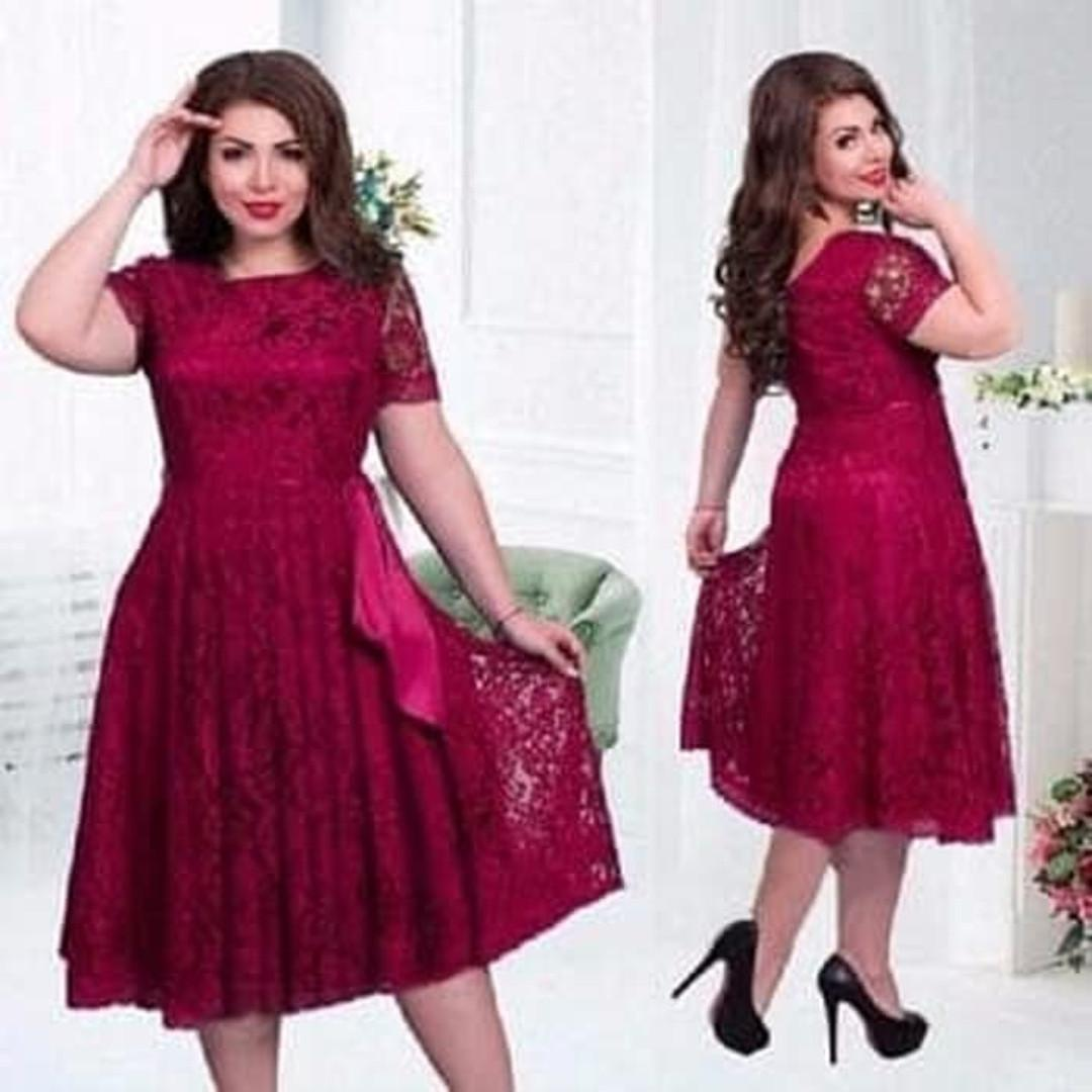 Dress Melli Brucade/dress bigsize/dress jumbo/baju jumbo wanita - Maroon