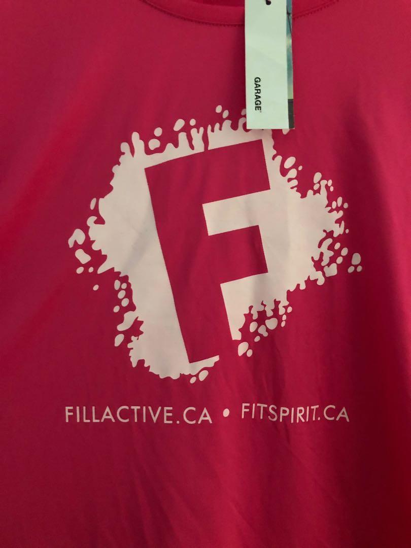 Garage dry fit workout t-shirt. Size: women's XL. Never worn.