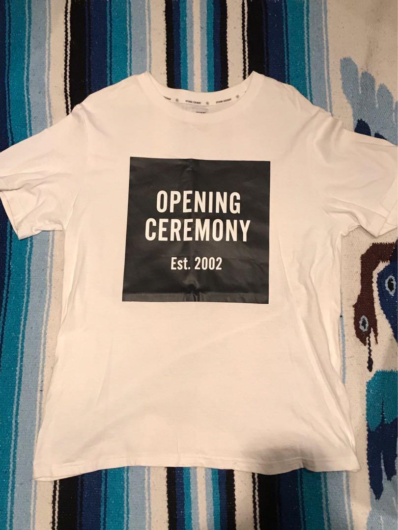 Genuine White Opening Ceremony Box Tee w/ Black Graphic
