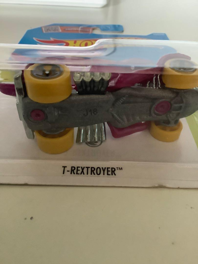 Hot wheels 205 TREASURE HUNT T-Rextroyer  rare limited edition diecast car