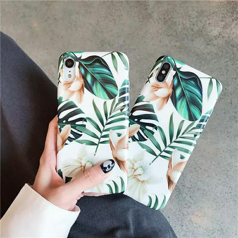 Nature Leaves Flower Phone Case Stand