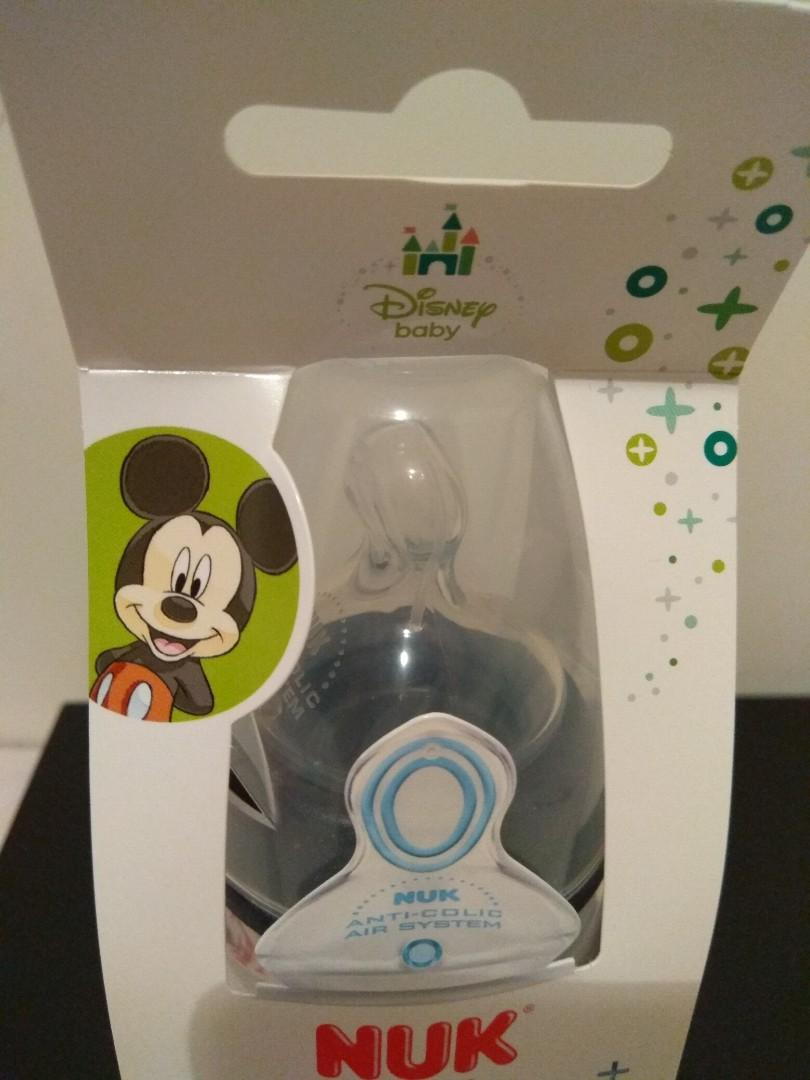 全新Nuk Disney 米奇 奶樽 6-18個月