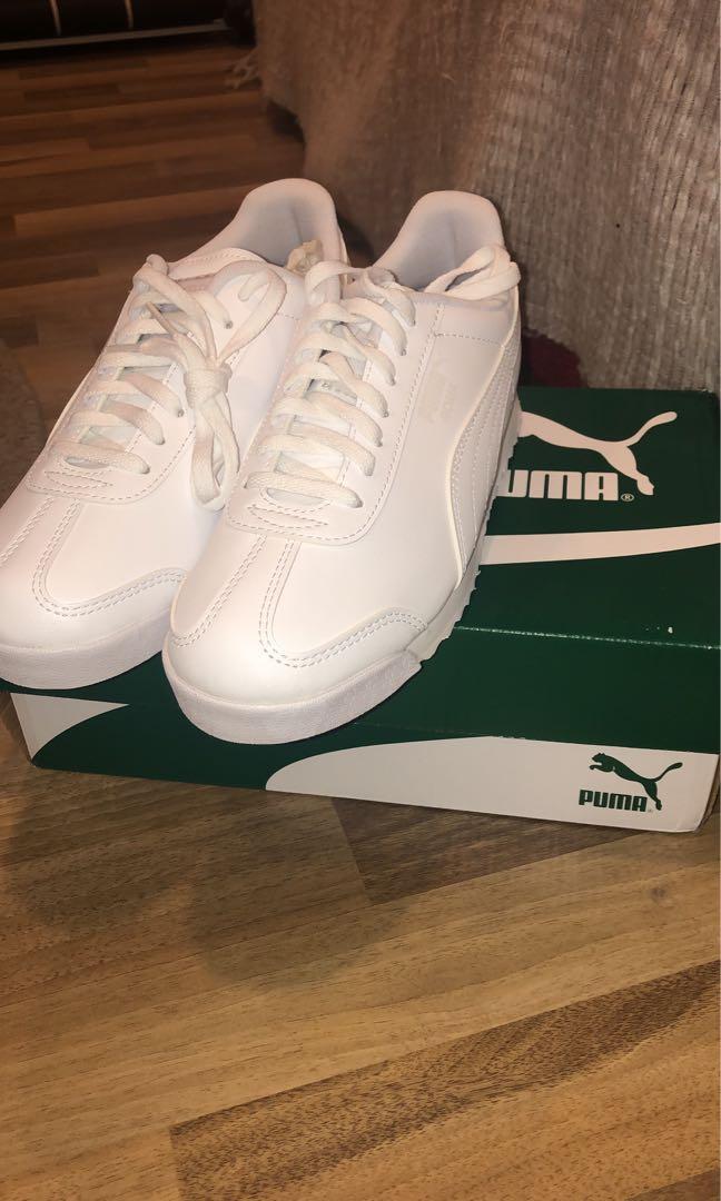 Puma white school sneakers/shoes, Men's