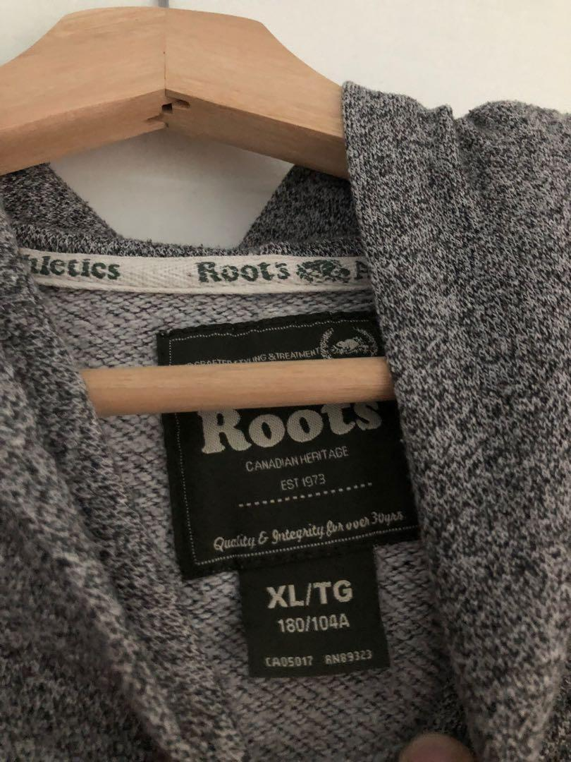 Roots salt and pepper pullover hoodie, kids xl (fits small to medium womens)