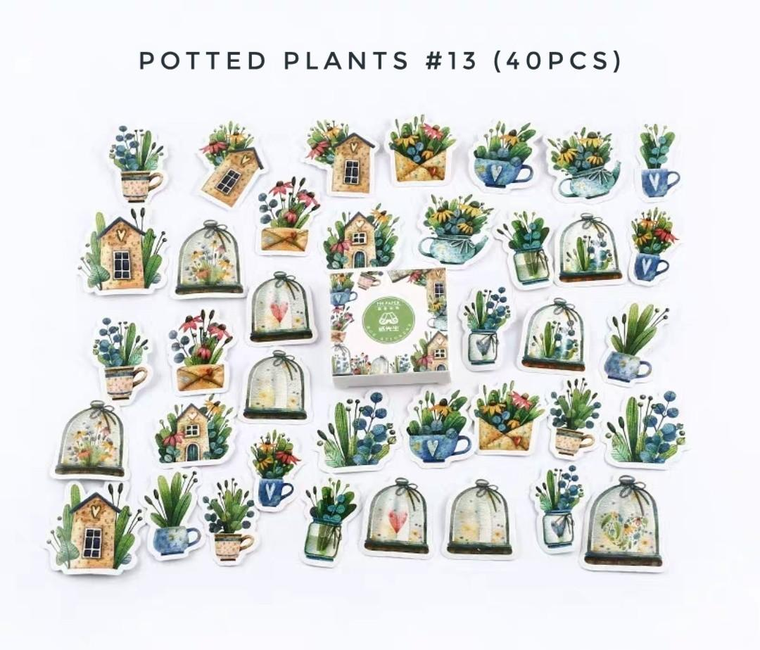 [S] (#13) Potted plants stickers