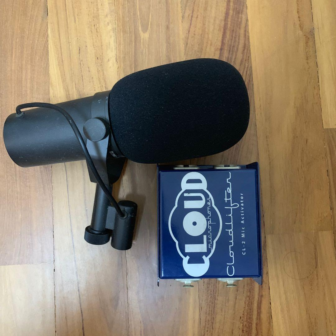 Shure SM7B and Cloudlifter CL-2