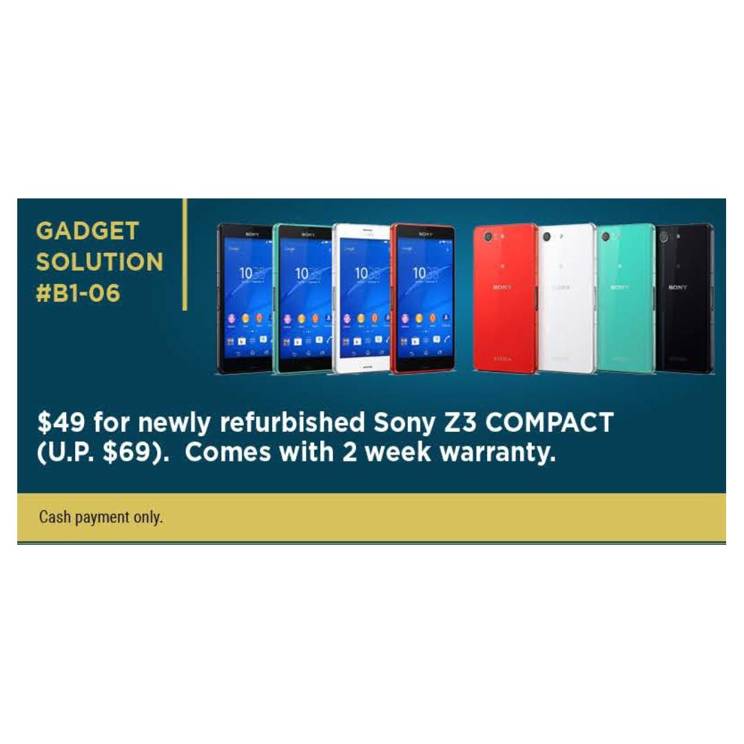 SONY Z3 Compact Refurbished Mobile Phone 2 Weeks Warranty