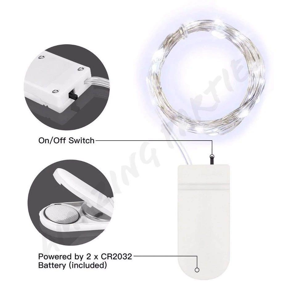 White LED Copper Wire Battery Powered Fairy Light