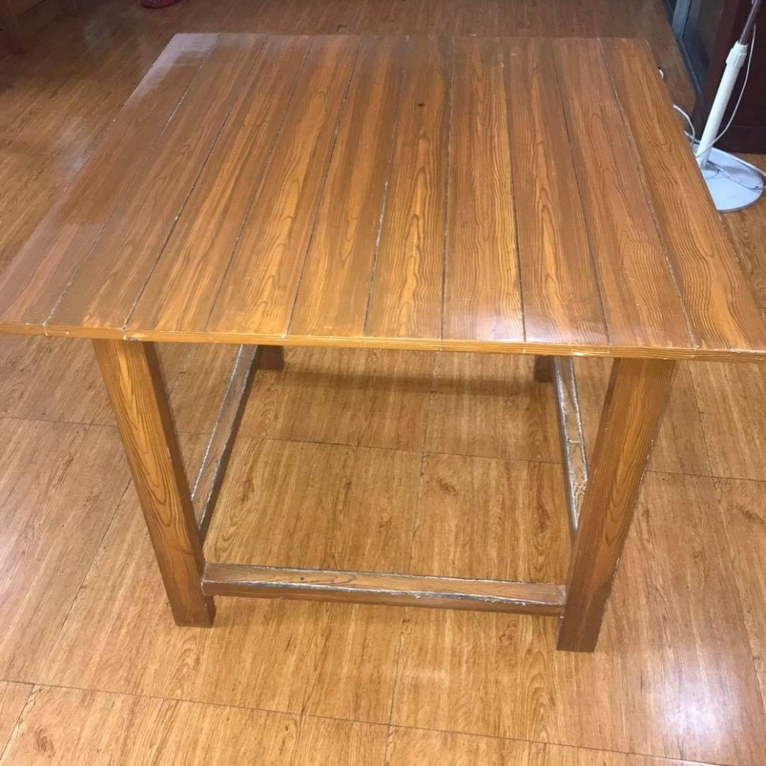 Wooden Table Home Furniture Furniture Fixtures Tables Chairs On Carousell
