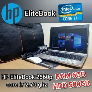 Laptop Bisnis Hp EliteBook core i7 2.70 ghz  Like New