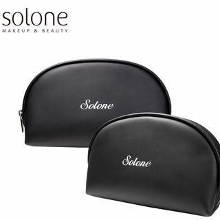 Solone 化妝包 收納包 黑色