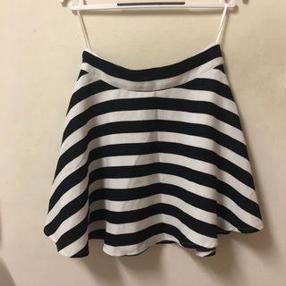 PAZZO黑白條紋傘裙