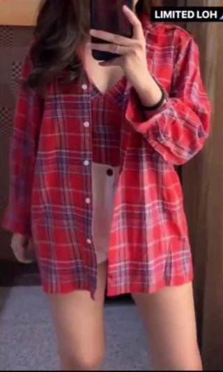 Red Outwear set Tank top