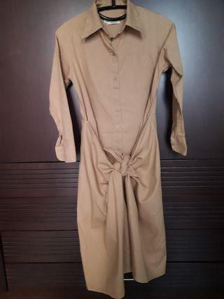 Local brand Knotted Brown Dress